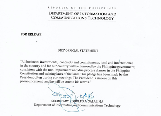 dict-official-statement