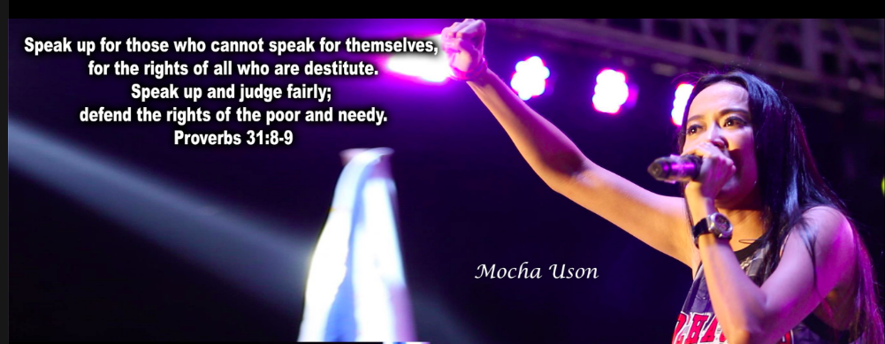Screengrab of Mocha from Mocha Uson Blog Facebook page