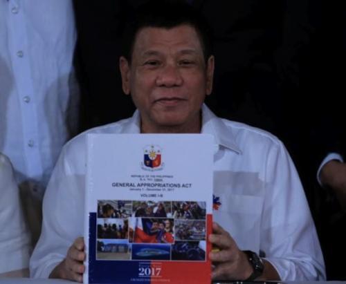 Duterte 2017 budget