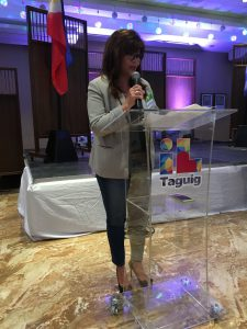 Janet Olivarez, spouse of Paranaque Mayor Edwin Olivarez and President of the Metro Manila Mayor's Foundation