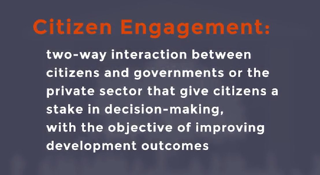 what is citizen engagement