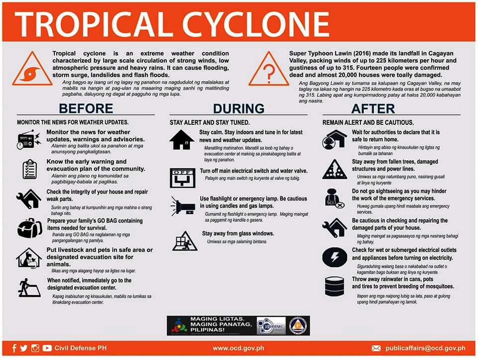 emergency preparedness tropical cyclone